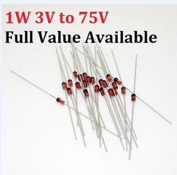 50 sztuk 1W dioda zenera 1N IN4735A 6V2 IN4736A 6V8 IN4737A 7V5 IN4738A 8V2 IN4739A 9V1 IN4740A 10 V IN4741A 11 V IN4742A 12 V 6V2 6 8v tanie i dobre opinie YUFO-IC Nowy DIODE 1 3 3 V Przez otwór