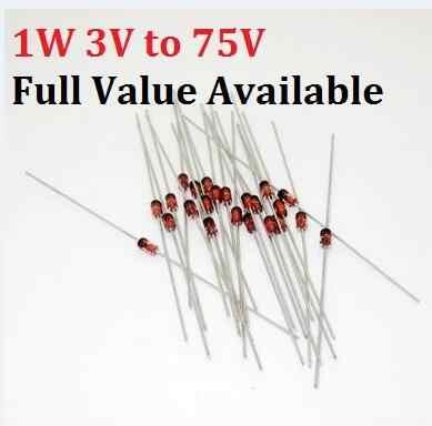 50PCS 1W diodo Zener 1N IN4735A/6V2 IN4736A/6V8 IN4737A/7V5 IN4738A/8V2 IN4739A/9V1 IN4740A/10 V IN4741A/11 V IN4742A/12 V 6V2 6.8v