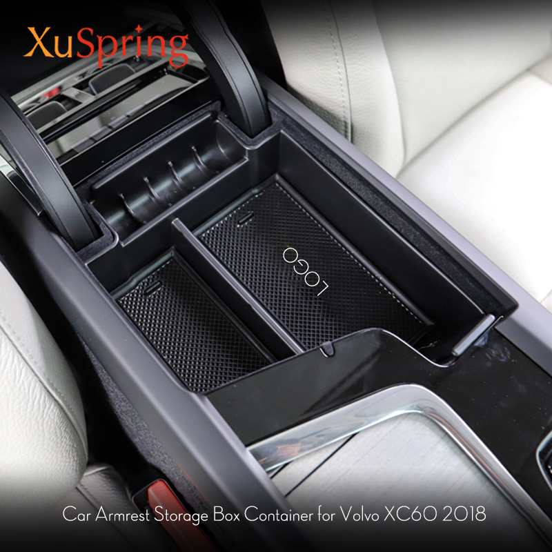 Car Interior Decoration Console Armrest Storage Box Container For 2017 <font><b>2018</b></font> <font><b>2019</b></font> <font><b>Volvo</b></font> <font><b>XC60</b></font> XC90 S90 LHD Car accessories image