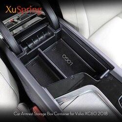 Dekoracja do wnętrza samochodu konsoli schowek w podłokietniku pojemnik na 2017 2018 2019 Volvo XC60 XC90 S90 LHD akcesoria samochodowe