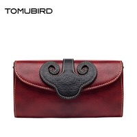 TOMUBIRD 2016 New Fashion Chinese Style Superior Cowhide Leather Women Clutch Bag Embossed Genuine Leather Women