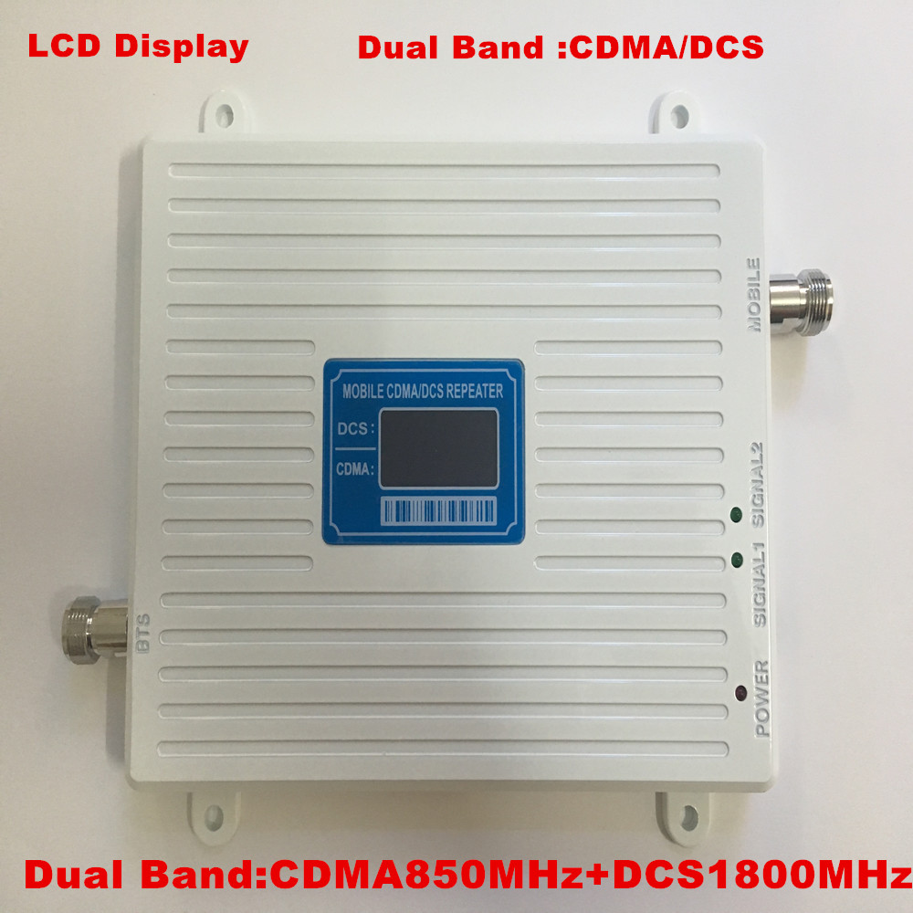 New White LCD GSM 850MHz CDMA DCS 1800MHz Mobile Phone Signal Booster ,2G 4G FDD LTE GSM Signal Repeater Amplifier GSM 850 1800
