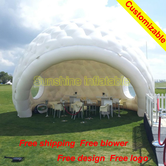 Newest 6mW white golf marquee igloo tent inflatable dome tent with two windows inflatable conapy for event/party/promotionNewest 6mW white golf marquee igloo tent inflatable dome tent with two windows inflatable conapy for event/party/promotion