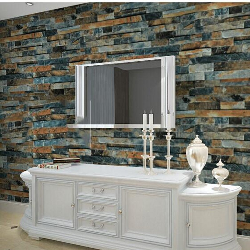 beibehang 3d wallpaper stone modern dining room 3d background wall roller pvc wallpaper bricks papel de parede para quarto beibehang custom 3d cobblestone bathroom floor tile wall sticker 3d wallpaper pvc self adhesive wallpaper papel de parede
