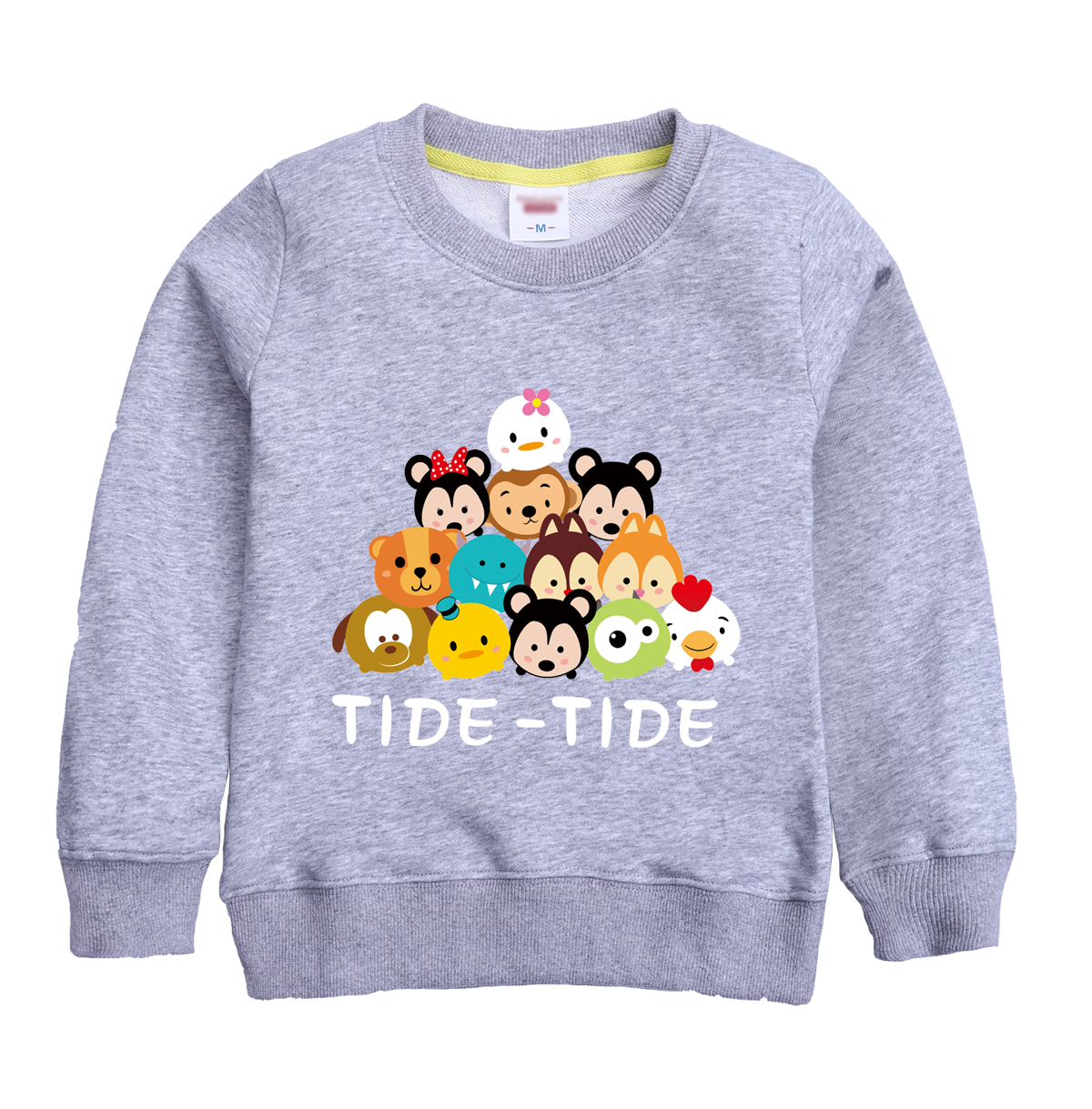 TIDE -TIDE pattern funny printed winter sweatshirt design for girl & boy with eight colors for select winter hooded clothing