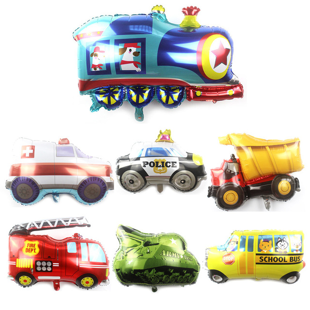 Kammizad 20pcs Lot Large Transportation Car Balloons Truck School