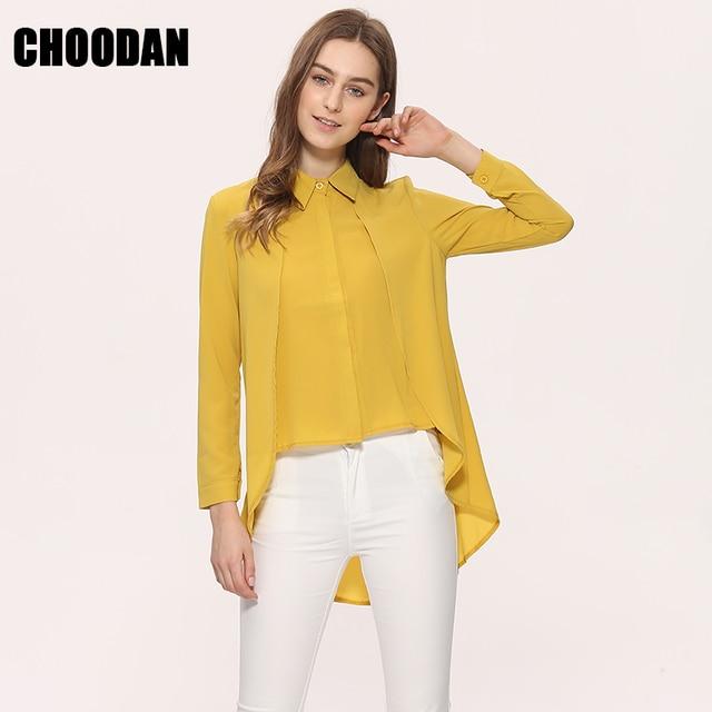c20f0ac6c493e4 Stylowe Bluzki Koszula Kobiety Szyfonowa Blusas 2018 Nowy Długim Rękawem  Fałszywe Dwuczęściowy Koszula Moda Koreański Styl