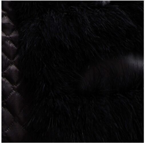 Новое поступление Винтажный стиль настоящий вязаный жилет из меха страуса жилет из натурального меха - Цвет: black