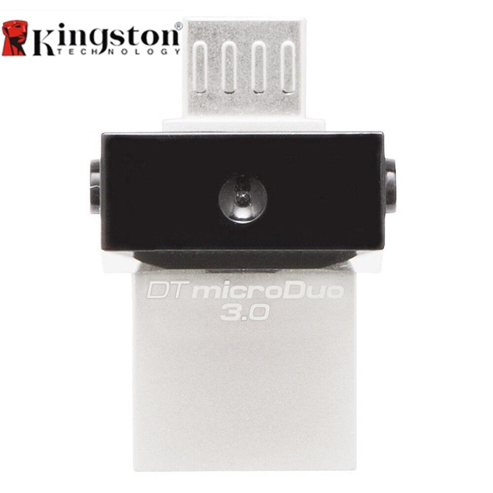 Kingston DTDUO3 0 Pendrive 32GB 16GB USB to Micro USB OTG USB 3 0 Flash Pen