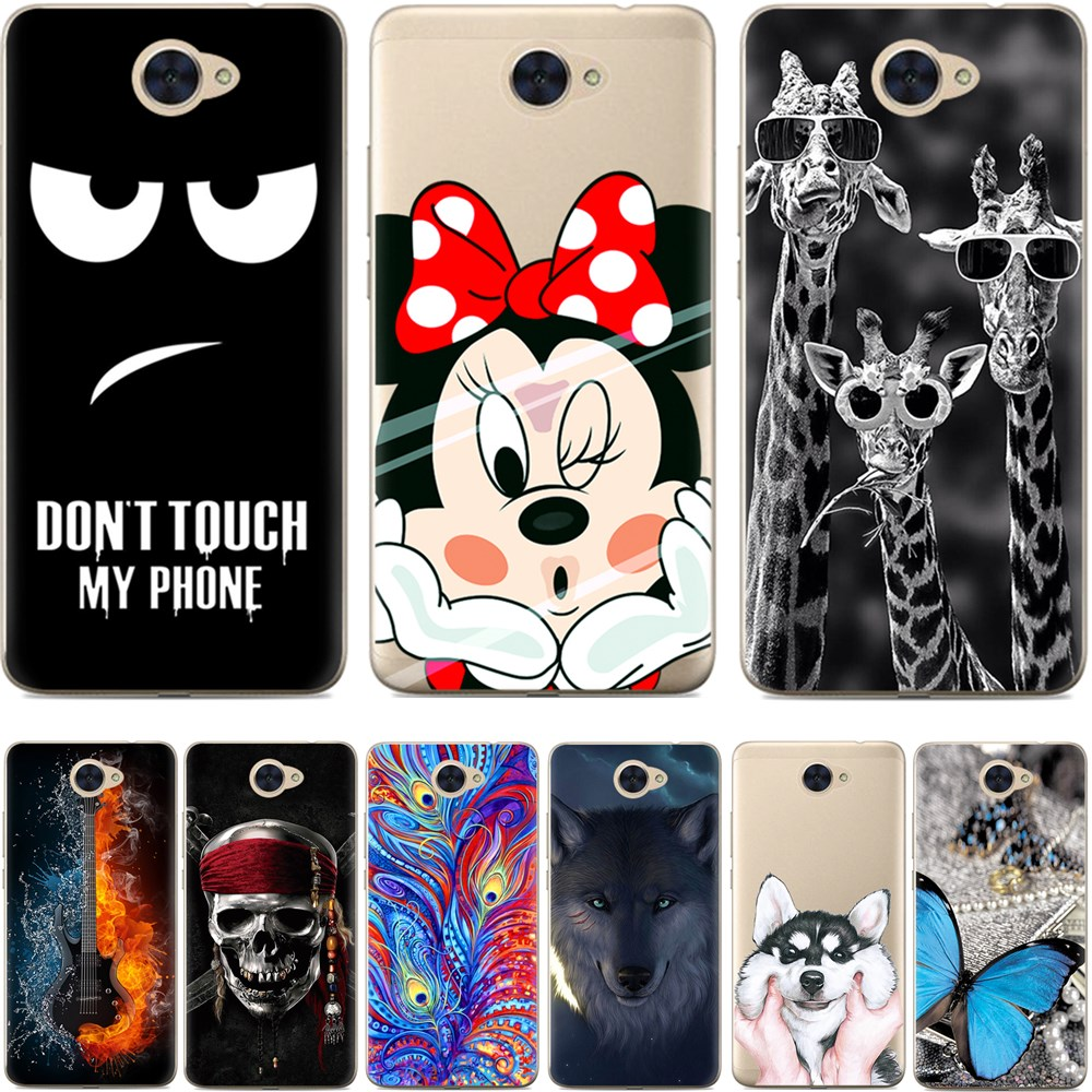 Cool design soft tpu case for huawei y7 soft silicone back for Design case