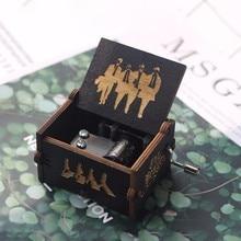 Высококачественная музыкальная шкатулка Винни-Пух Zelda из черного дерева с ручками, Игра престолов, Розовая пантера, пират, капитан, рождественский подарок