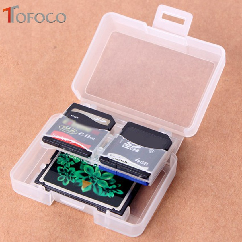 3PCS TOFOCO Plastic Memory Card Case Holder For Samsung SD Micro SD T-Flash Card Backpacker EDC Tool