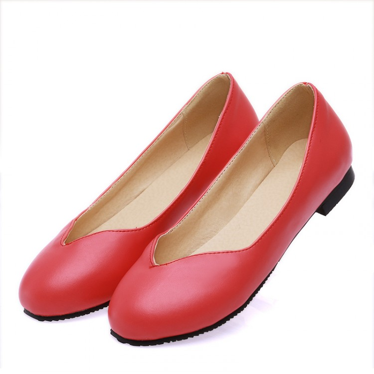 2018 Real Creepers Plus Size 31-47women Genuine Flat Shoes Woman Work Newest Fashion Female Casual Single Women Flats Soft 08-6 de la chance 2018 new fashion women casual shoes adults colorful women s flats shoes woman breathable harajuku flat plus size
