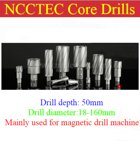 [2'' 50mm drill depth] 12-160mm T.C.T. annular cutter Tungsten carbide tipped core drills bits for magnetic drill machine 35mm ncctec core drill magnetic base drills nmd35c 1 4 14kg net weight 1200w