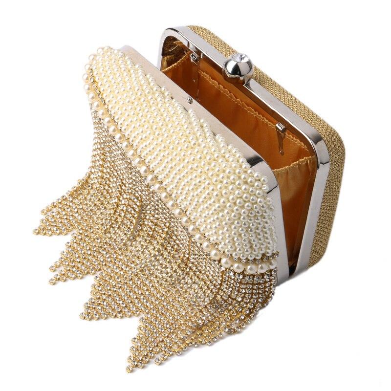 Pochette white Main De Soirée Sacs Design Pour Femmes Designer Clutch Petit Mode Maxza Gold À Sac La Femme 51Twq5H