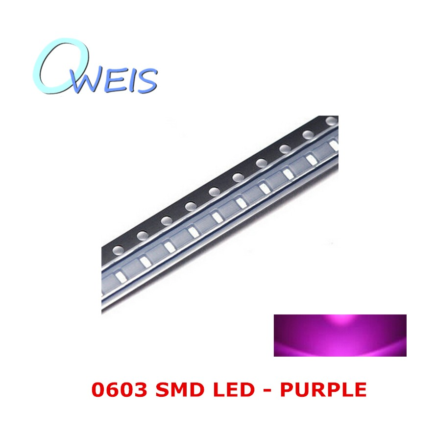 200PCS 0603 super bright PURPLE SMD LED violet 1608 indicator sign light emitting diode light beads lamp FREE SHIPPING