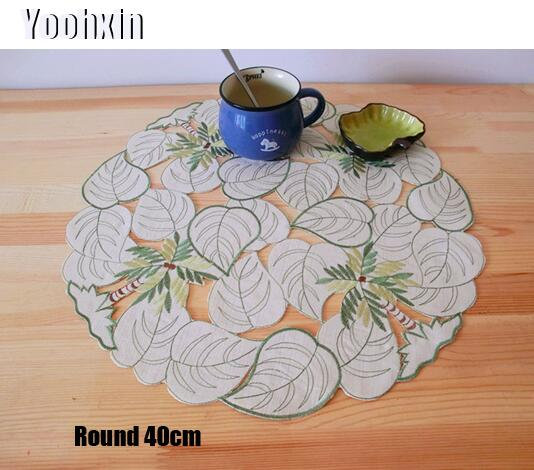 Modern Lace Table Place Mat Pad Cloth Embroidery Placemat Cup Mug