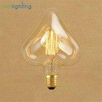220 V 240 V Винтаж гостиная украшения Эдисон лампа E27 40 W сердце ретро лампы Декор лампы для украшения для спальни Винтаж лампа