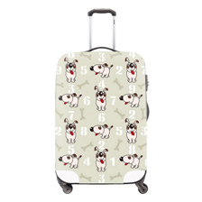 5 New Fashion 2015 Travel Luggage Suitcase Protective Cover Cute Dog Print Waterproof Luggage Covers Elastic Cover For Suitcase
