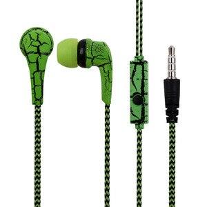 Image 2 - HOMEBARL pleciony ziarna J5 słuchawki douszne uszny drut w ucho słuchawki Stereo dla iphone Samsung Galaxy S6 S5 S4 S7 S8 Mic