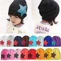 Пятиконечная звезда осень крышка младенца трикотажные теплый хлопок шапочка hat для малышей детские дети девочка мальчик отпечатано детские зимние шапки W1