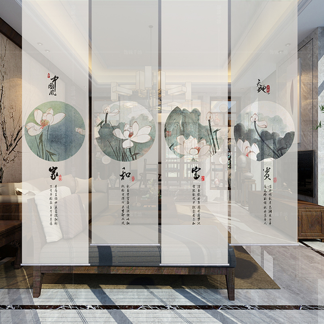 Lotus Curtain Room Divide Biombo Screen Patterns Designs Window