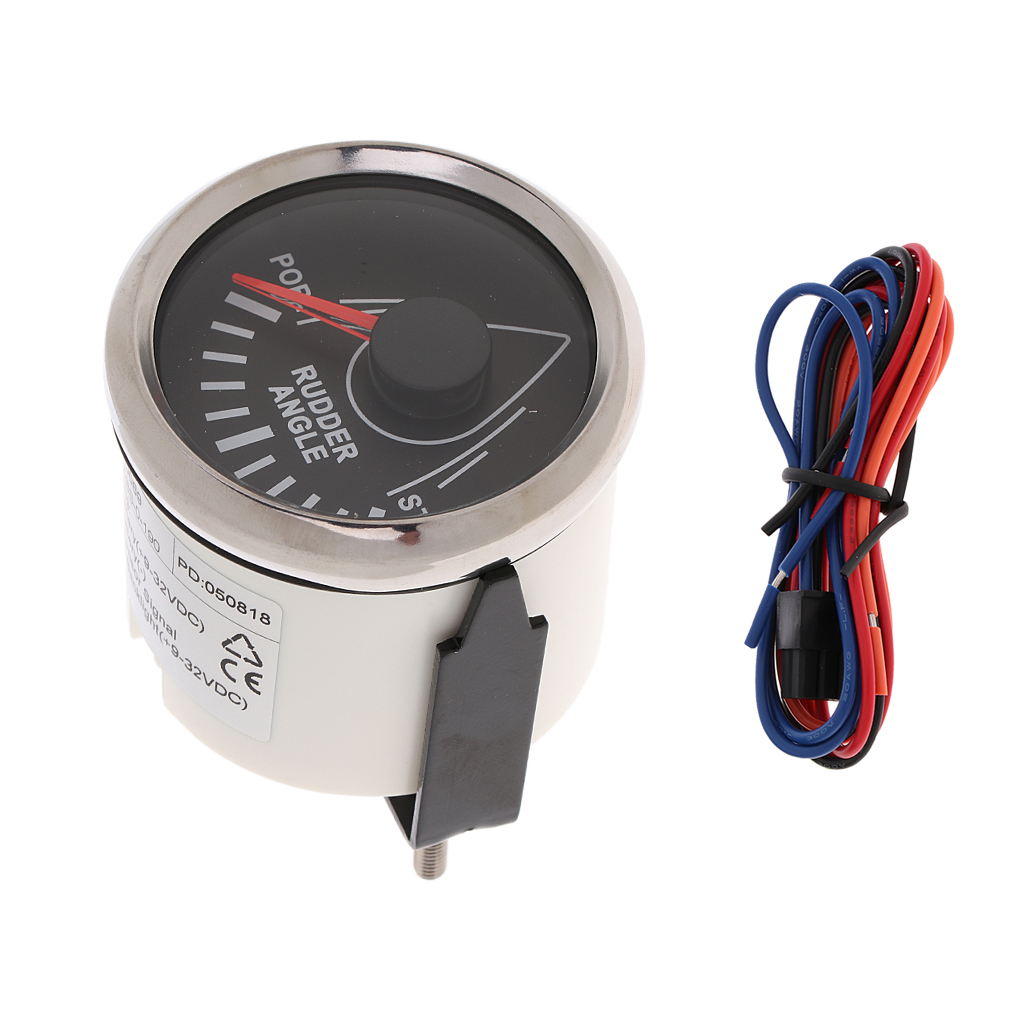 Marine Rudder Angle Gauge With Mating Sensor 0 190 52mm 900 00074-in Marine Hardware from Automobiles & Motorcycles
