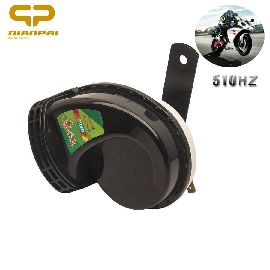 Bestine Universal 12V 130dB Loud Moto Cami/ón Coche Caracol Sirena Bocina de Aire Impermeable Negro 510HZ