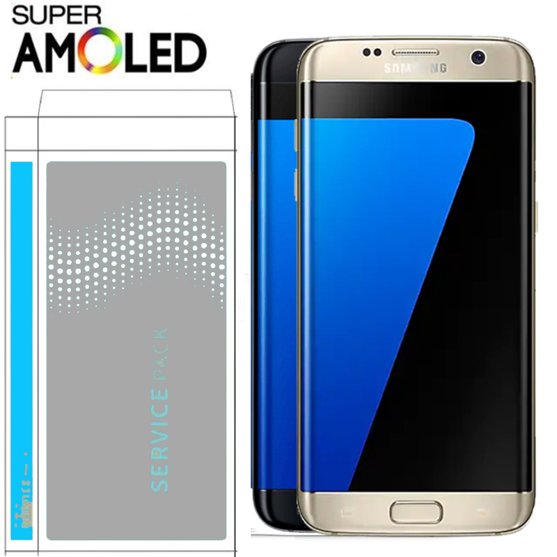 ORIGINAL 5 5 Display with Burn Shadow Ghost image LCD with Frame for SAMSUNG s7 edge