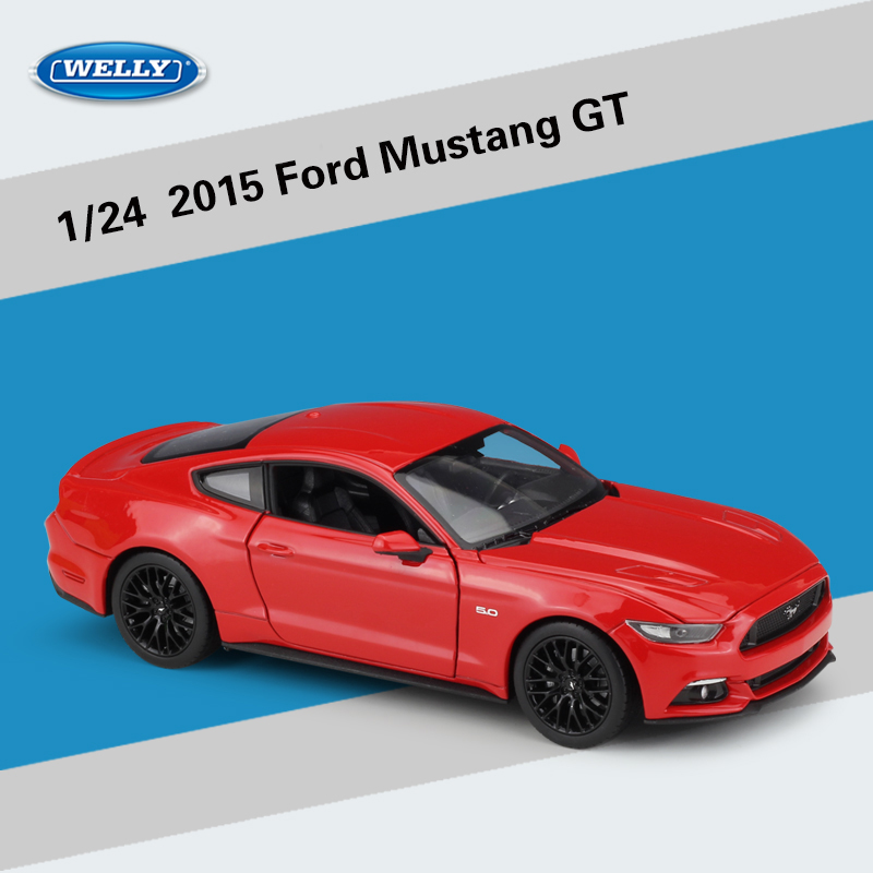 WELLY 1:24 2015 Ford Mustang GT Alloy Diecast Model Car