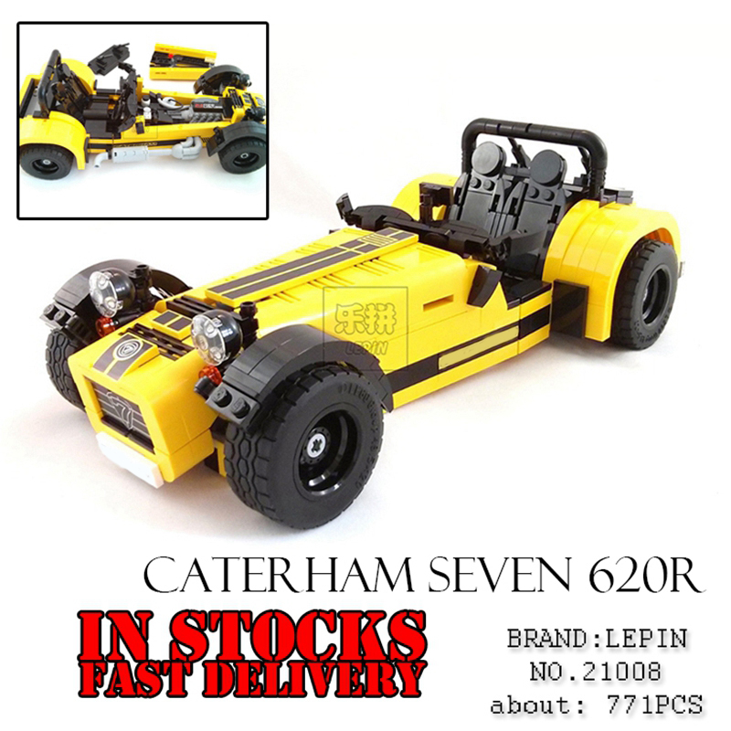 Lepin 21008 Creative Technic Series The Caterham Classic Racing Car Set Building Blocks Bricks toys 21307 lepin 20076 technic series the mack big