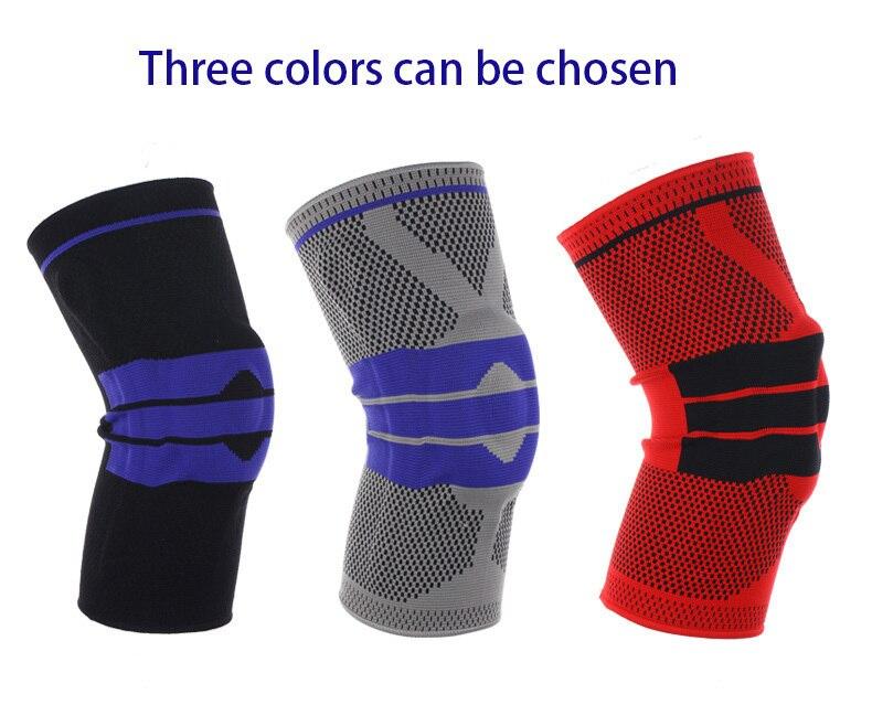 ¡Oferta! rodilleras acolchadas de silicona para baloncesto, rodilleras con soporte, Protector de rótula Meniscus para deportes, rodilleras protectoras de seguridad