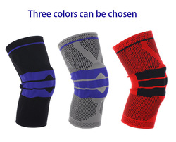 Hot Sale Basketball Support Silicon Padded Knee Pads Support Brace Meniscus Patella Protector Sports Safety Protection Kneepad