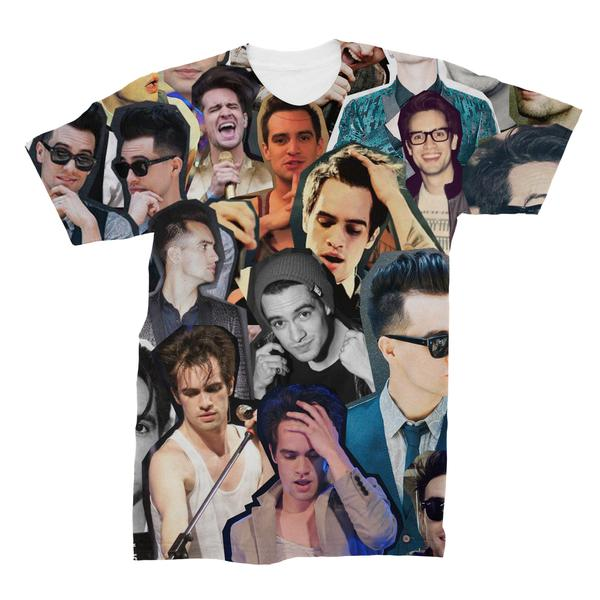 Brendon Urie Collage T-Shirt Panic At The Disco Harajuku Famous Brand T Shirt ...