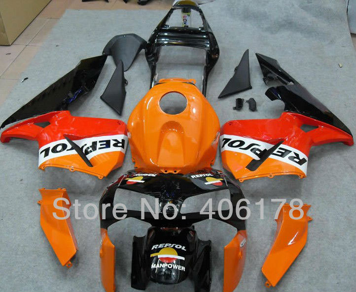 Hot Sales,ABS Sport Bike Fairing For Honda F5 CBR600RR 2003 2004 CBR 600 RR Motorcycle Repsol Fairing Kits (Injection molding) hot sales for honda cbr600rr 2003 2004 cbr 600rr 03 04 f5 cbr 600 rr blue black motorcycle cowl fairing kit injection molding