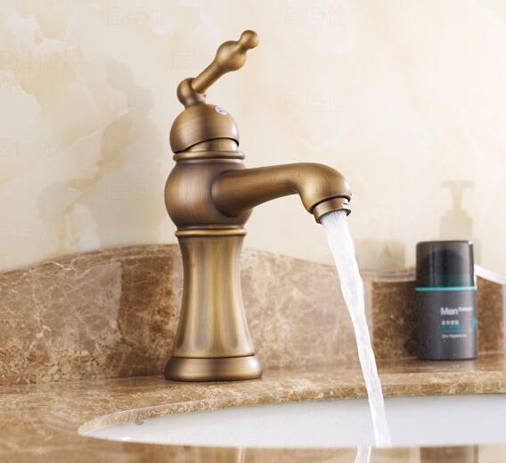 hot sale Antique Bronze Finish Swivel Brass bathroom single lever hot and cold Sink Mixer Bath