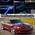Для Chevrolet Camaro интерьер Окружающего Освещения Тюнинг Атмосфера Волоконно-Оптических Ленточные Огни Внутри Дверной Панели освещения Для Настройки