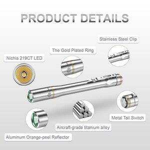 Image 3 - Lumintop IYP365 TI poche Penlight Nichia/Cree LED IPX8 étanche 3 Modes 2AAA smart titane stylo lampe de poche pour médical