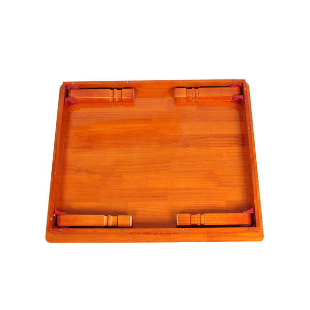 Wood Furniture Korean Dining Table Folding Leg Rectangle 90 80cm Home Asian Antique Floor Low Wooden