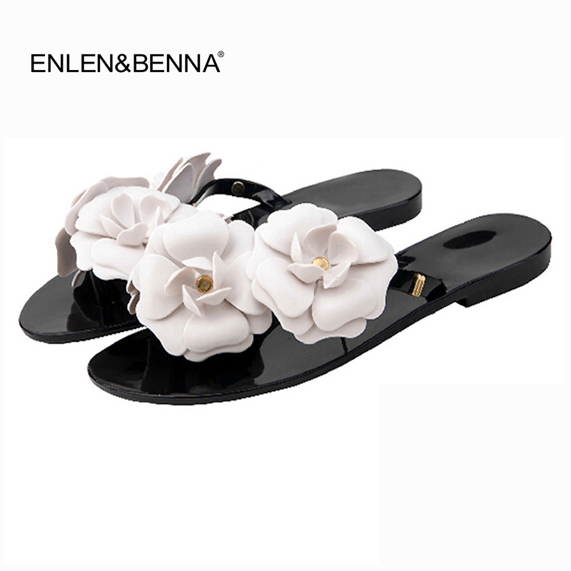 Summer Women Sandals Flip Flops Outside Women Slippers Female Beach Shoes With Floral Ladies Jelly Shoes Sandalias Mujer 2018
