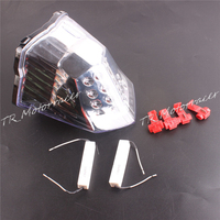 LED Turn Signals Tail Light Integrated For Yamaha XJ6 FZ6R 2009 2014 2012 2013 Clear Motorcycle