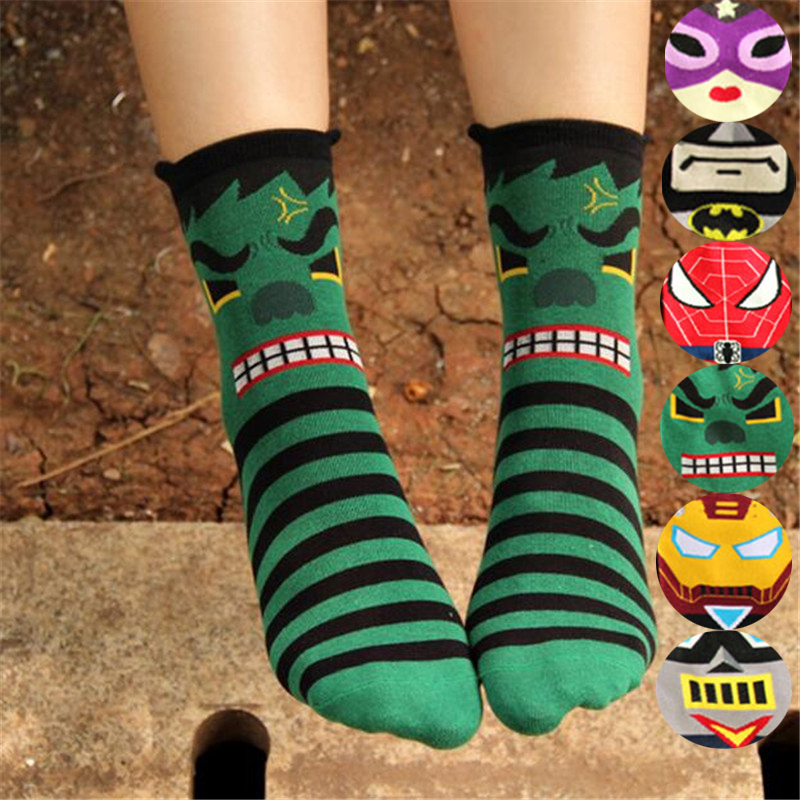 New arrival   socks   women cotton autumn-winter colorful cartoon crazy stripe   sock   lady and women's funny cartoon   socks