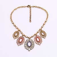 Casual Design Five Leaves Openwork Necklace Clothes Accessory Direct Sale By Manufacturer