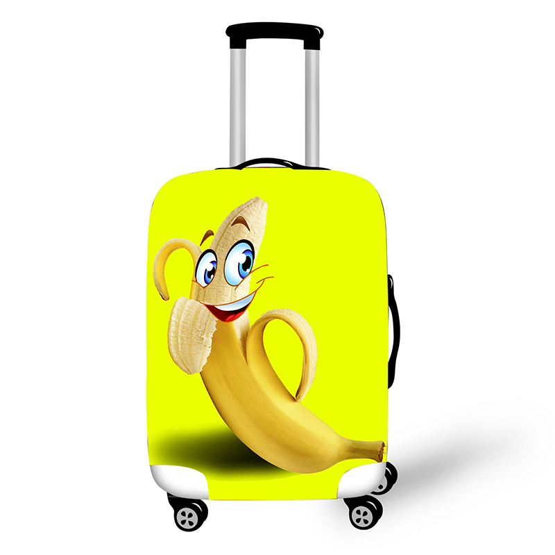 3D Print Cute Banana Luggage Protective Covers Elastic Suitcase Cover Travel 18 To 32 Inch Luggage Cover Dust Protection Cover