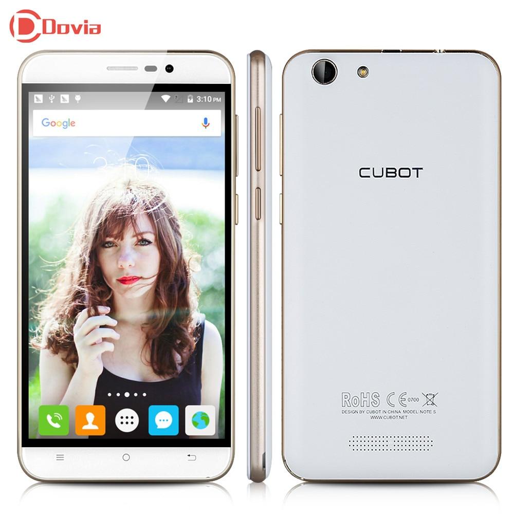 Cubot Note S 3G Smartphone MTK6580 Quad Core 4150mAh Telephone 5.5 inch HD Screen 2G RAM 16G ROM 8MP Camera Mobile Phone