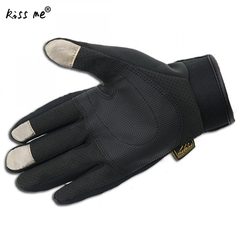 Unisex Bicycle Riding Gloves Racing Gloves Anti-Skidding Sport Gloves Pu Leather Cut-Resistant Climbing Gloves Touch Screen