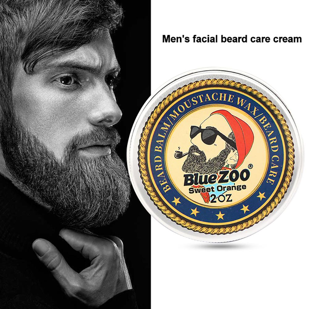 Blue ZOO Men 60g Natural Beard Growth Care Balm Cream Organic Moustache Wax Beauty
