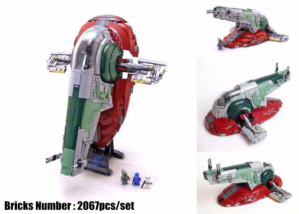 New UCS Slave I Slave NO.1 fit legoings star wars figures fighter model Building Block Bricks Toys boys 75060 kid Gift diy toys new the rogue one usc naboo style fighter fit legoings star wars fighter figures fit 10026 building blocks bricks toys gift kid