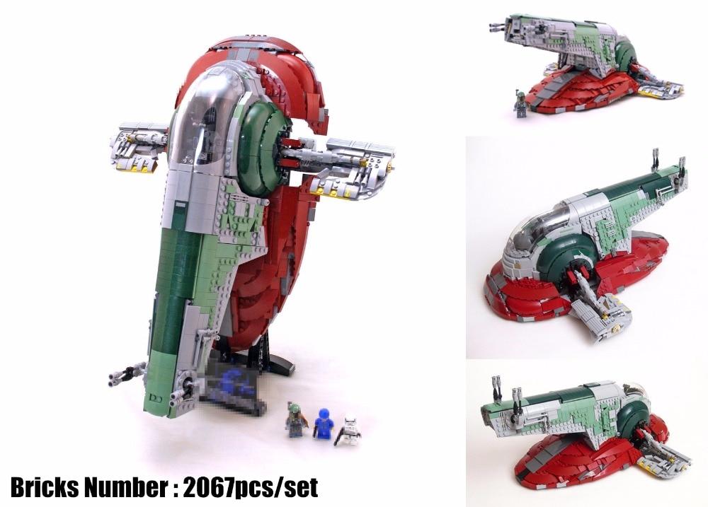 New UCS Slave I Slave NO.1 fit legoings star wars figures fighter model Building Block Bricks Toys boys 75060 kid Gift diy toys цена 2017