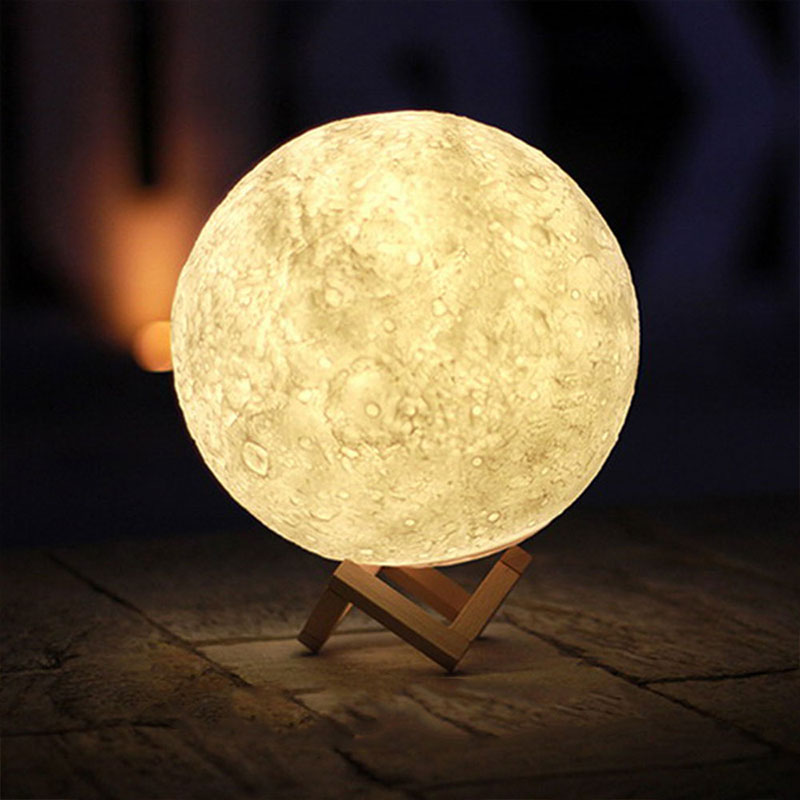 Rechargeable Moon Lamp 2/16 Colors Change 3D Light Touch/Remote Control Switch Bedroom Night Light Creative Gifts Drop Shipping magnetic floating levitation 3d print moon lamp led night light 2 color auto change moon light home decor creative birthday gift